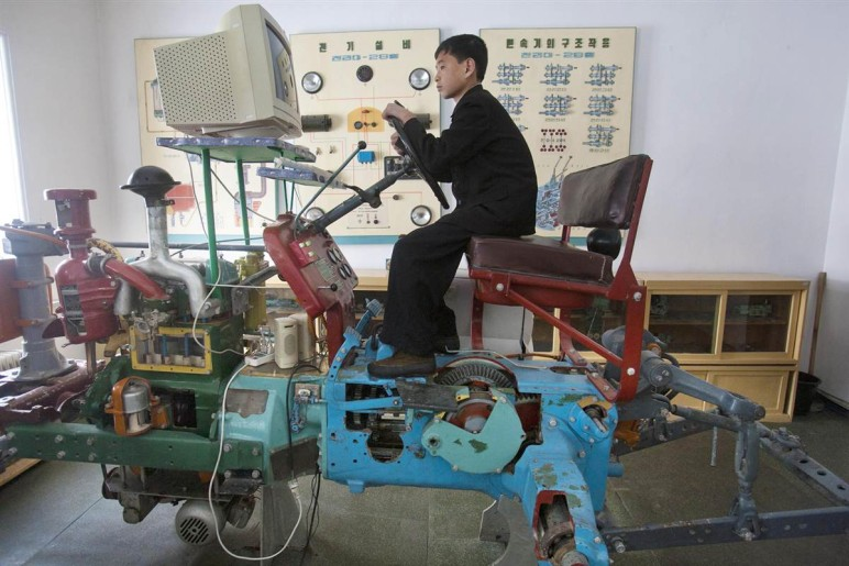 A North-Korean tractor simulator